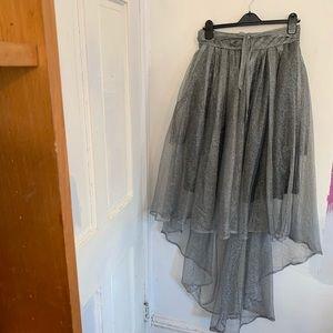 Gracia Tulle Tutu High-Low Skirt